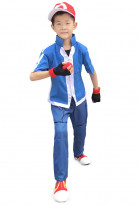 X and Y Ash Ketchum Cosplay Costume for Kids