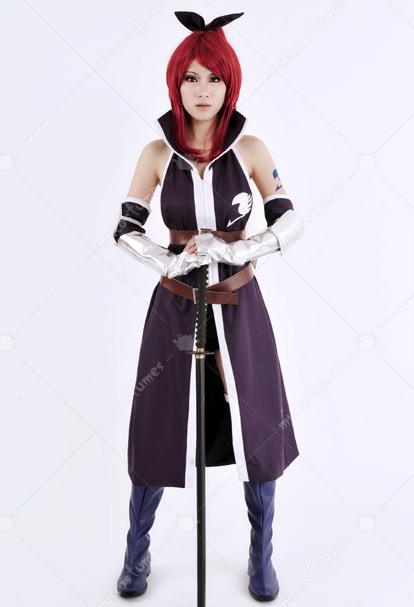 Fairy Tail Erza Scarlet Purple Cosplay Costume For Sale