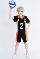 Haikyuu!! Karasuno High Koshi Sugawara Cosplay Costume Volleyball Uniform