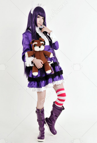 League of Legends Dark Child Annie Purple Lolita Costume