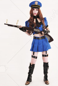 League of Legends Sheriff of Piltover Caitlyn Blaue Cosplay Kostüme