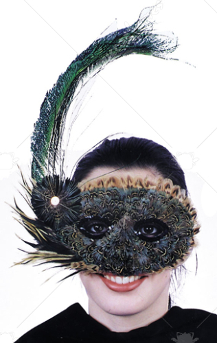 20s Style Feather Mask