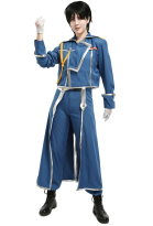Fullmetal Alchemist Roy Mustang Cosplay Costume Military Uniform