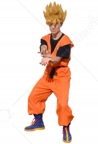 Dragon Ball Goku Cosplay Costume With Kame Letter