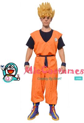 Dragon Ball Goku Cosplay Costume With Kame Letter