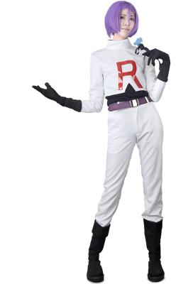 Pokemon Team Rocket James Cosplay Costume
