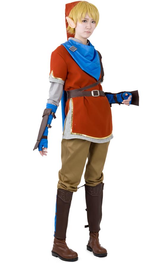Zelda Hyrule Warriors Link rote Cosplay Kostüme