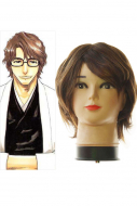 40cm Bleach Aizen Sosuke Cosplay Wig