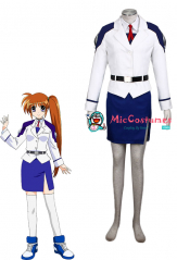 Magical Girl Lyrical Nanoha Takamachi Cosplay Costume