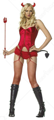 4 Pc. Sexy Devil Adult Costume