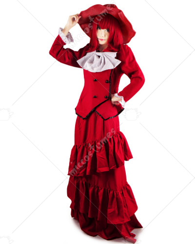 Black Butler Madam Red Angelina Durless Cosplay Costume