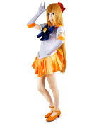 Sailor Moon Aino Minako Sailor Venus Cosplay Costume