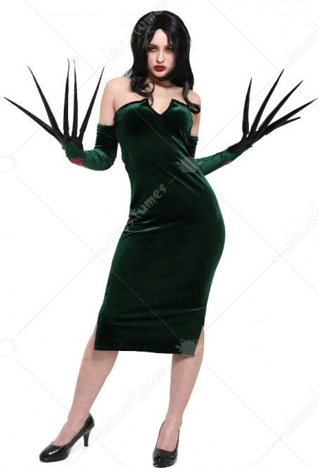 Fullmetal Alchemist Lust Cosplay Costume Dress with Gloves