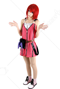 Kingdom Hearts Kairi Red Dress Cosplay Costume