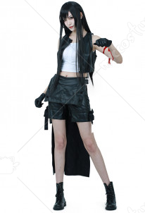Final Fantasy VII Tifa Lockhart Leather Cosplay Costume
