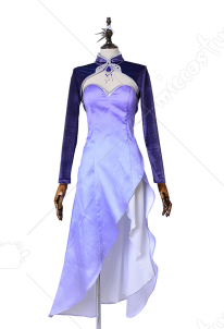 RWBY Season 4 Weiss Schnee Cosplay Costume Long Dress