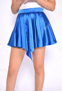 Women Basic Versatile Stretchy Casual Mini Blue Skirt For Halloween and Cosplay