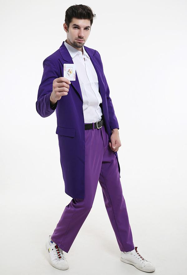 Lila DIY Hose Halloween Männer Anzughose Cosplay Kostüm