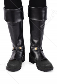 Men Deluxe Adult Pirate Boot Covers with Studs and Zipper