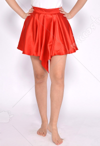 Women Basic Versatile Stretchy Casual Red Mini Skirt For Halloween and Cosplay