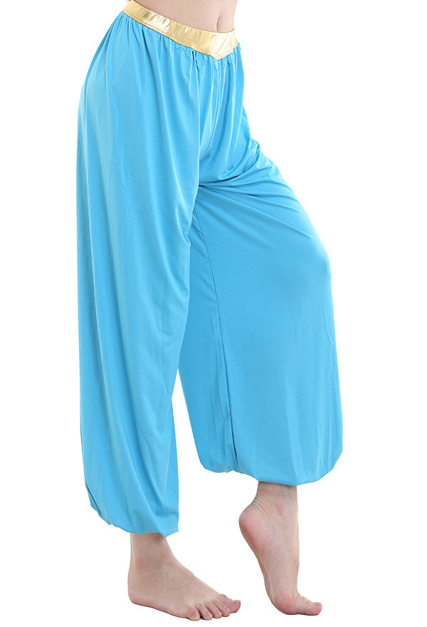 Blau Yoga Pilates Hosen für Halloween Cosplay
