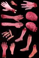 [Free US Economy Shipping] Halloween Prop Decoration Accessory Horrible Broken Finger Broken Arm Broken Leg
