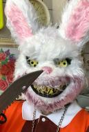 [Free US Economy Shipping] Halloween Cosplay Bloody Rabbit Cosplay Mask Furry Animal Mask
