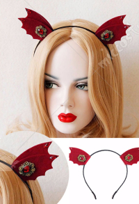 Halloween Cosplay Little Devil Headband Wine Red Headband Party Acting Cute Headband