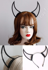 [Free US Economy Shipping] Devil Horn Headband Party performance hair accessory Anime Convention Acting Cute Headband