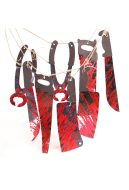 [Free US Economy Shipping] Halloween Decoration Accessory 12 Blood Knives String Ghost House Blood Knives