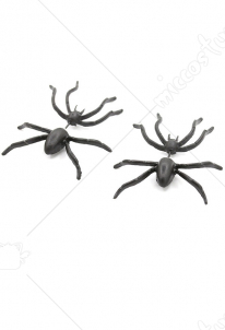 [Free US Economy Shipping] Halloween Decoration Accessory Black Spider Stud Earring Wacky Special Stud Earring