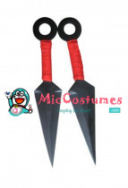Hot Red Big Naruto Ninja Kunai Throwing Knife Set of 2