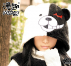 Manchy Danganronpa Monokuma Cosplay Scarf Gloves Hat