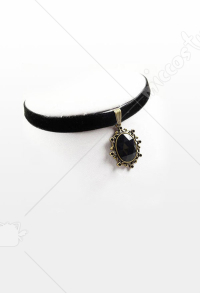 [Free US Economy Shipping] Retro Steampunk Gothic Classical Black Onyx Neck Accessories Choker