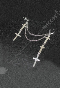 [Free US Economy Shipping] Retro Steampunk Gothic JK Lolita Cross Ear Clip Earring
