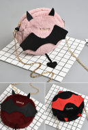 [Free US Economy Shipping] Cute Japanese Style Mini Bat Bag Dark Halloween Little Devil with Wings Gothic Lolita Metal Chain Shoulder Bag