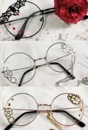 [Free US Economy Shipping] Lolita Accessories Glasses Steampunk Punk COS Retro Gear Glasses