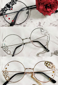 Lolita Accessories Glasses Steampunk Punk COS Retro Gear Glasses