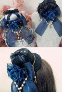[Free US Economy Shipping] Gothic Lolita Rose Mini Top Hat Hair Clip Hair Accessory