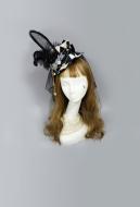 [Free US Economy Shipping] Alice Clock Rabbit Ear Veil Gothic Mini Top Hat Hair Accessory