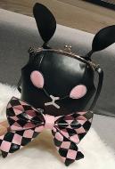 [Free US Economy Shipping] Cute Japanese Style Dark Gothic Poker Rabbit Bowknot Lolita Girl Shoulder Bag