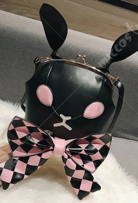 [Free US Economy Shipping] Cute Japanese Style Dark Gothic Poker Rabbit Bowknot Lolita Girl Shoulder Bag