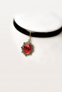 [Free US Economy Shipping] Retro Steampunk Gothic Classical Ruby Neck Accessories Choker