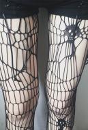 [Free US Economy Shipping] Dark Gothic Punk Hollow Spider Skeleton Big Hole Pantyhose 2 Set