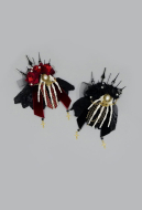 [Free US Economy Shipping] The Pointer of Clock Gothic Flower Hand Bone Hair accessory Hairband  Brooch