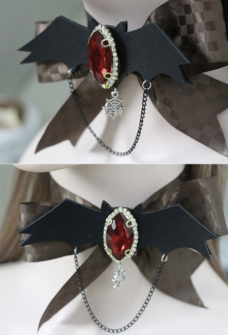 [Free US Economy Shipping] Blood Wings Lolita Accessory Gothic Dark Brooch