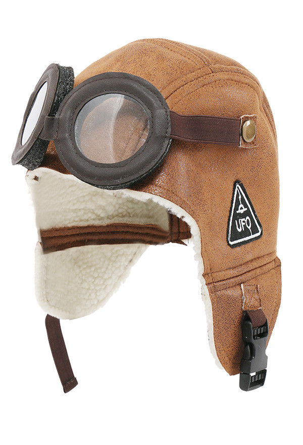 Kinder Pilot Flieger Vlies Warme Mütze mit Ohrenschützer Hut und Schutzbrille
