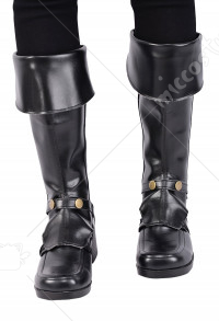 Kids Deluxe Gladiator Pirate Boot Covers with Studs and Zipper for Halloween