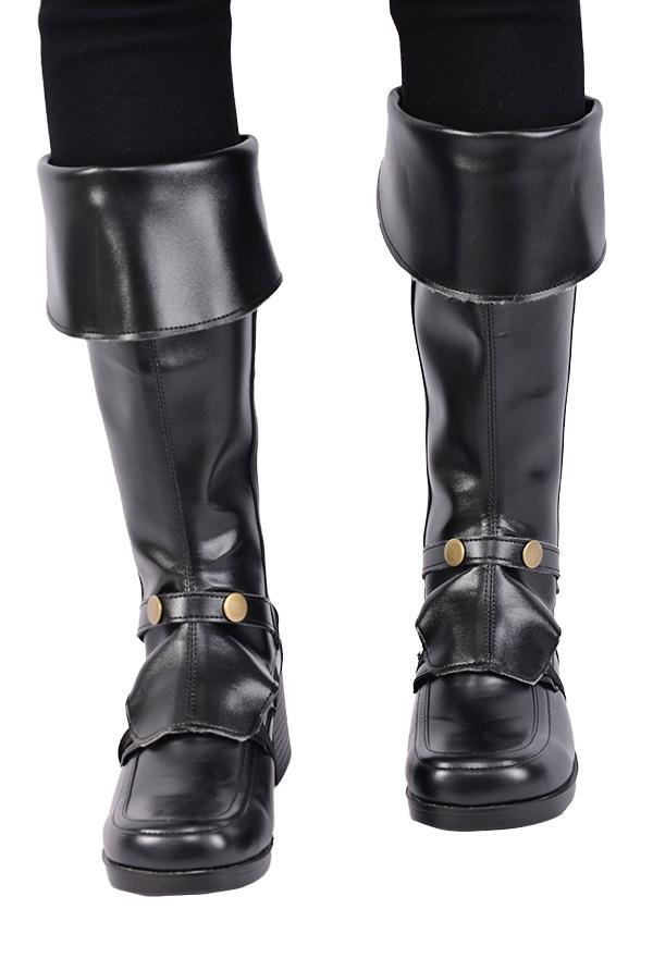 Kinder Deluxe Pirat Überstiefel mit Nieten und Reißverschluss für Halloween