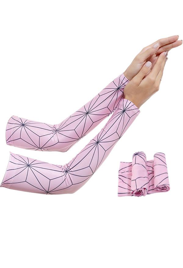 Demon Slayer Nezuko Kamado Sonnencreme Manschette UV-Schutz Cosplay Arm Ice Silk Armstulpen Sports Eismanschette Armschutz